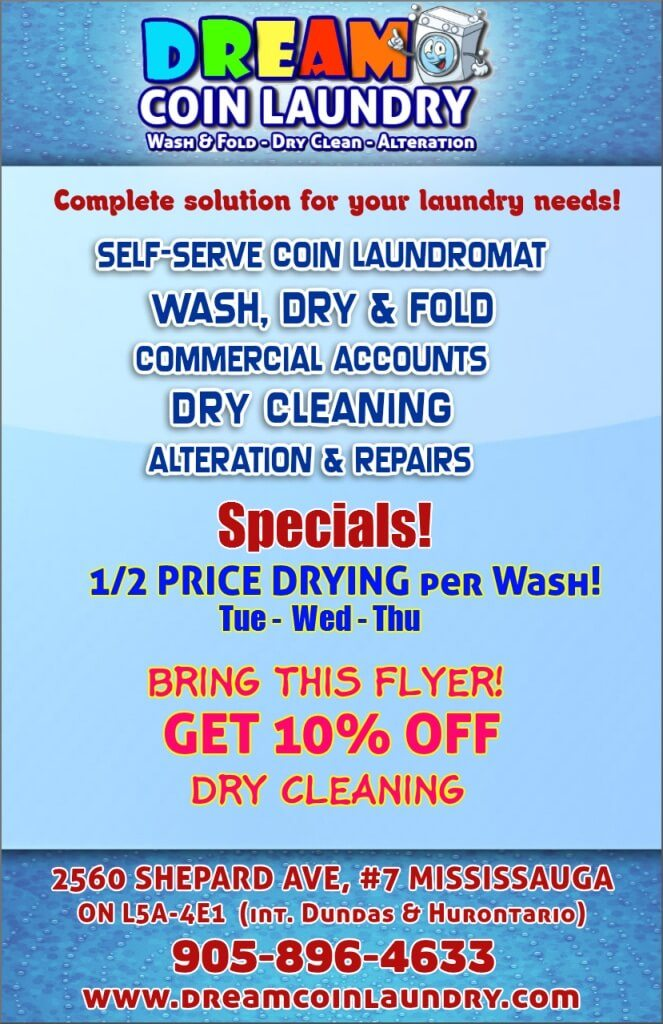 DREAM Coin Laundry Flyers - dry cleaners Coupon